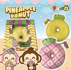 Jumbo Squishy Soft & Slow Rising - Puni Maru Pineapple Donut (Scented) - Funky Toys