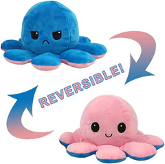 Octopus Reversible Plush Double-Sided Flip Doll - Pink & Blue - Funky Toys