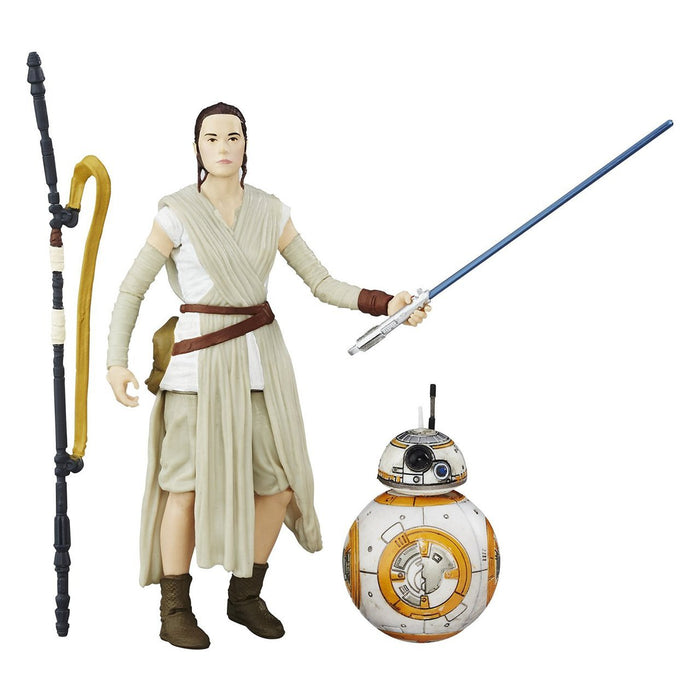 Star Wars The Black Series 6 Inch - Rey (Jakku) with Lightsaber and BB-8 - funky-toys-company