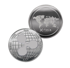 Ripple (XRP) Coin - Silver Metal Physical Blockchain Cryptocurrency Collectible Coin - Funky Toys