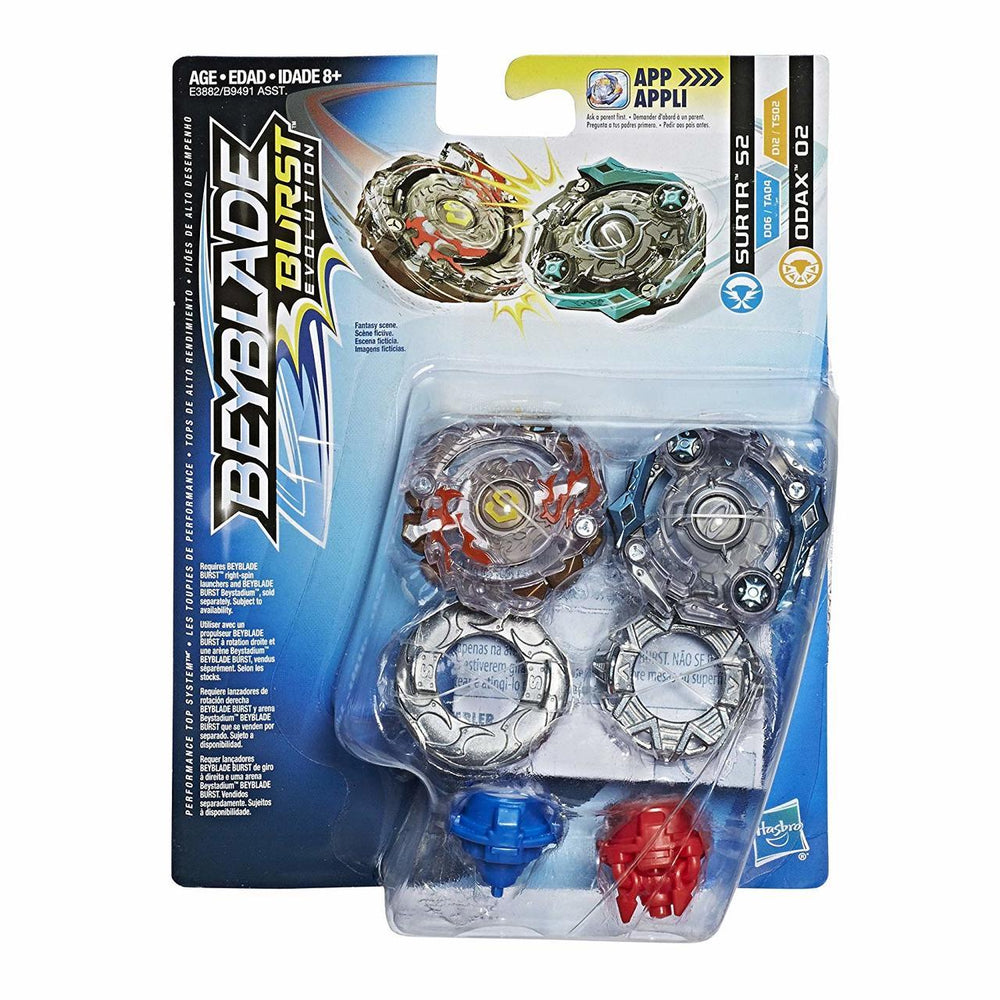 Beyblade Burst Evolution Dual Pack - Surtr S2 and Odax O2 - funky-toys-company