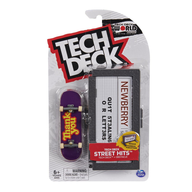 Tech Deck World Edition Street Hits - Thank You with signage - Funky Toys