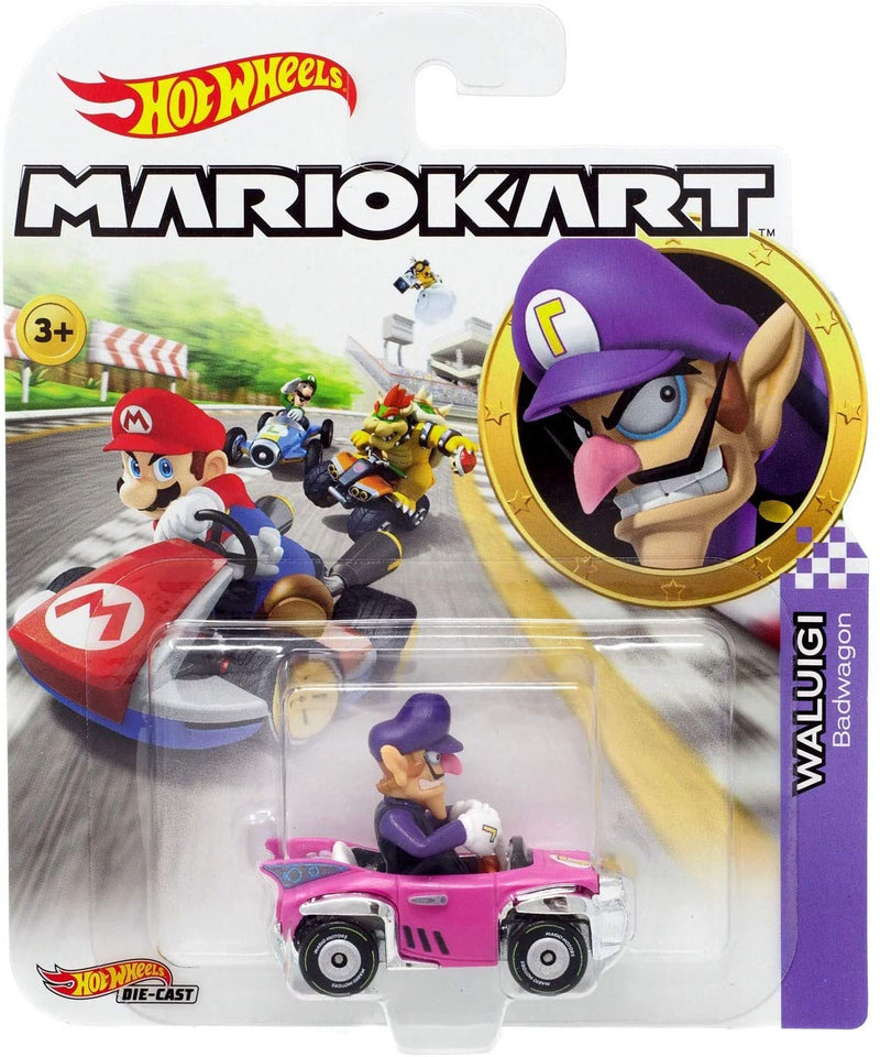 Hot Wheels Die-Cast 1/64 Mario Kart - Waluigi Badwagon - Funky Toys