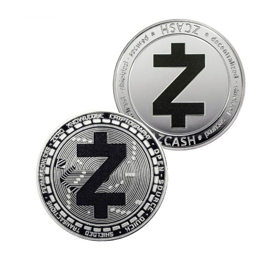 Zcash Coin - Silver Metal Physical Blockchain Cryptocurrency Collectible Coin - Funky Toys