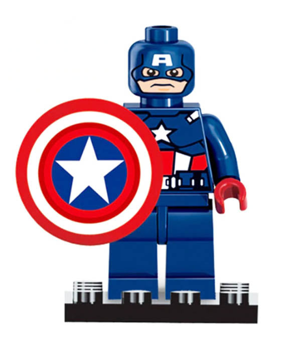 Minifigure - Marvel - Captain America with Shield - funky-toys-company