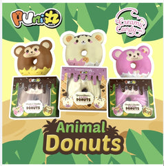 Jumbo Squishy Soft & Slow Rising - Puni Maru Cheeki Cheeka Animal Donuts (Scented) - Funky Toys