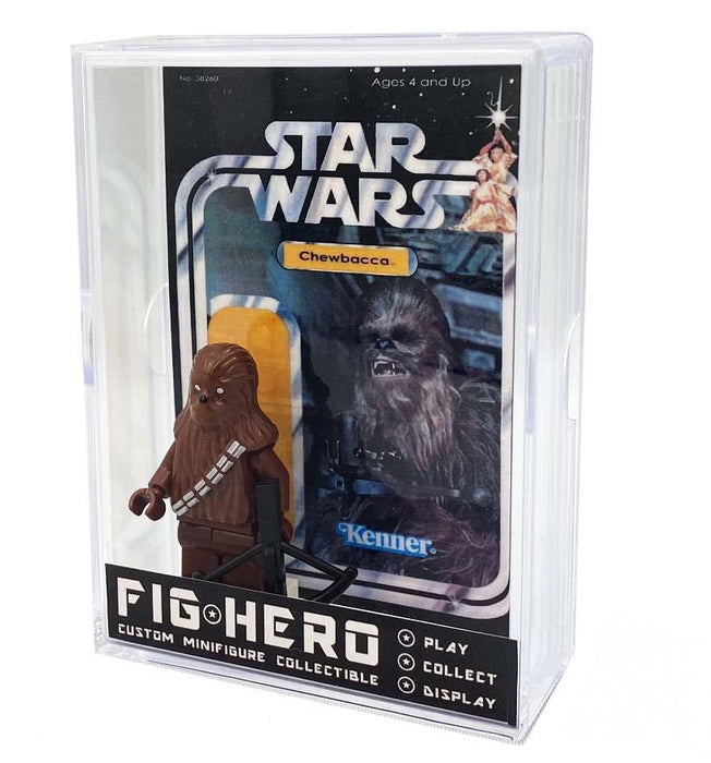 FIGHERO - Chewbacca - Custom Minifigure w/ Card & Display