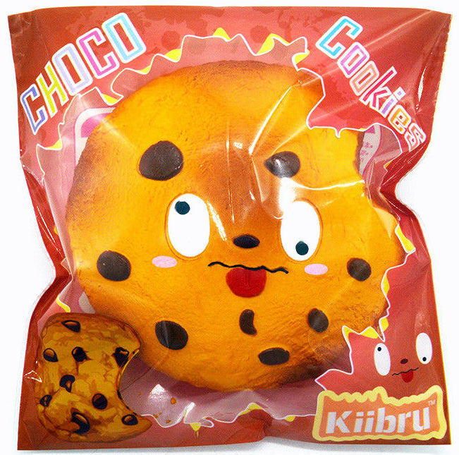 Jumbo Squishy Soft & Slow Rising - Kiibru Chocolate Chip Cookie (Scented) - Funky Toys