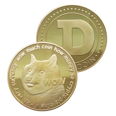 Dogecoin Coin - Gold Metal Physical Blockchain Cryptocurrency Collectible Coin - Funky Toys