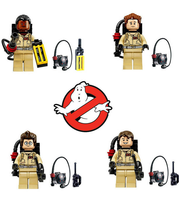 Minifigure - Ghostbusters set of 4 - funky-toys-company