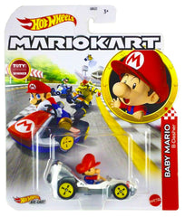 Hot Wheels Die-Cast 1/64 Mario Kart - Baby Mario B-Dasher - Funky Toys