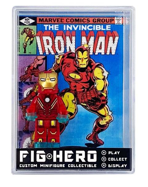 FIGHERO - Iron Man - Custom Minifigure w/ Card & Display