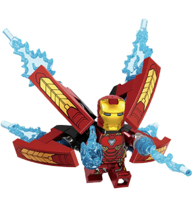 Minifigure - Marvel Avengers - Iron Man with Armor - funky-toys-company