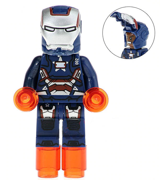 Minifigure - Marvel - Iron Patriot - funky-toys-company
