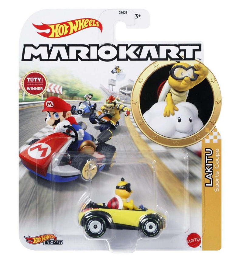 Hot Wheels Die-Cast 1/64 Mario Kart - Lakitu Sports Coupe - Funky Toys