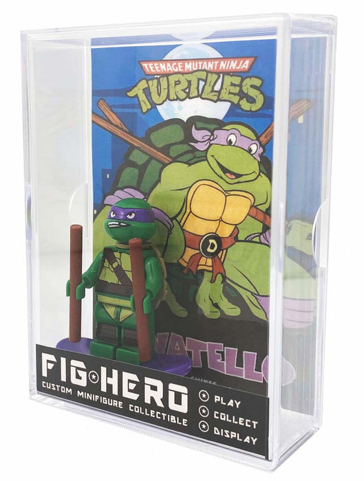 FIGHERO - Donatello Ninja Turtles - Custom Minifigure w/ Card & Display