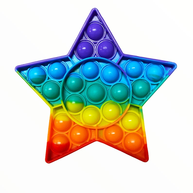 Pop Bubble Fidget - Star Rainbow - Funky Toys