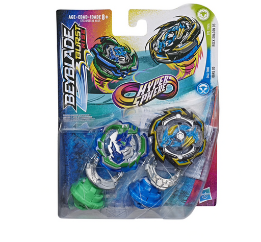 Beyblade Burst Rise Hypersphere Dual Pack - Ogre O5 & Rock Dragon D5