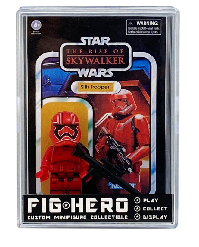 FIGHERO - Sith Trooper - Custom Minifigure w/ Card & Display