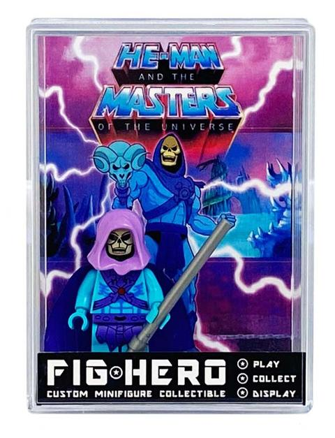 FIGHERO - Skeletor MOTU - Custom Minifigure w/ Card & Display
