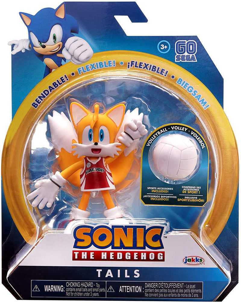 Sonic the Hedgehog 4 inch Action Figure - Tails With Volleyball - Funky Toys