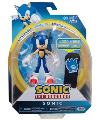 Sonic the Hedgehog 4 inch Action Figure - Sonic with Skateboard - Funky Toys