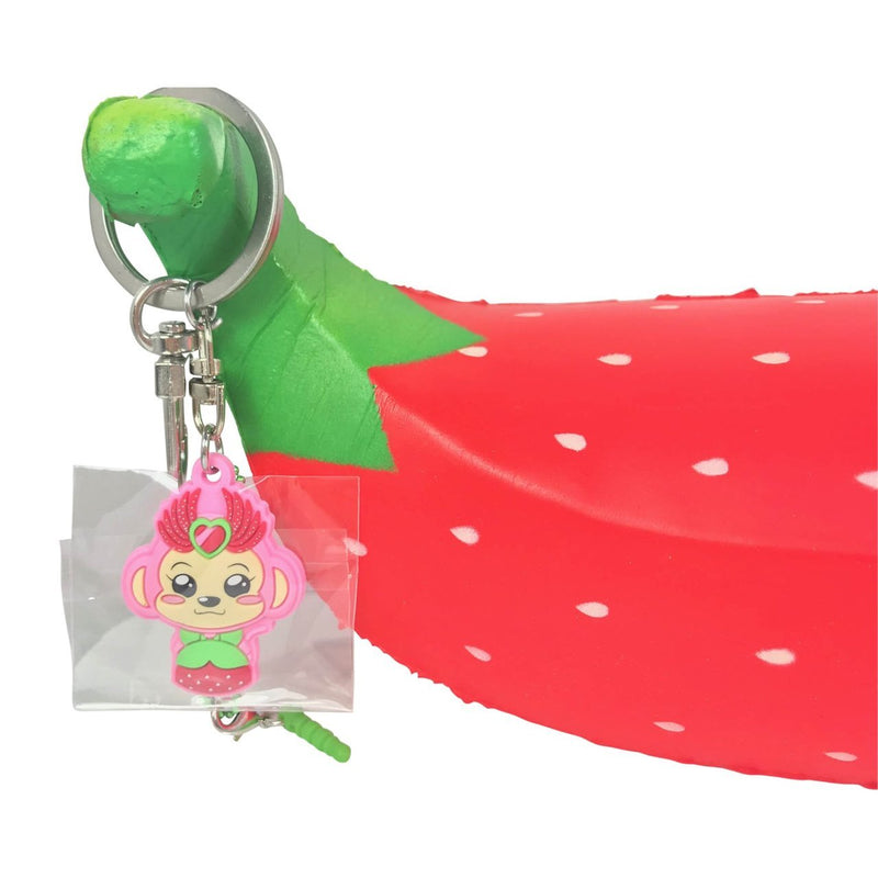 Super Jumbo Squishy Soft & Slow Rising - Puni Maru Strawberry Banana (Scented) - Funky Toys