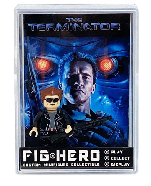 FIGHERO - Terminator - Custom Minifigure w/ Card & Display