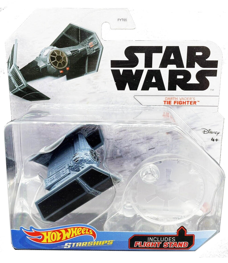 Hot Wheels Die-Cast Star Wars Starships - Darth Vader Tie Fighter - Funky Toys