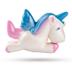 Medium Squishy Soft & Slow Rising - Pink & Blue Unicorn - Funky Toys