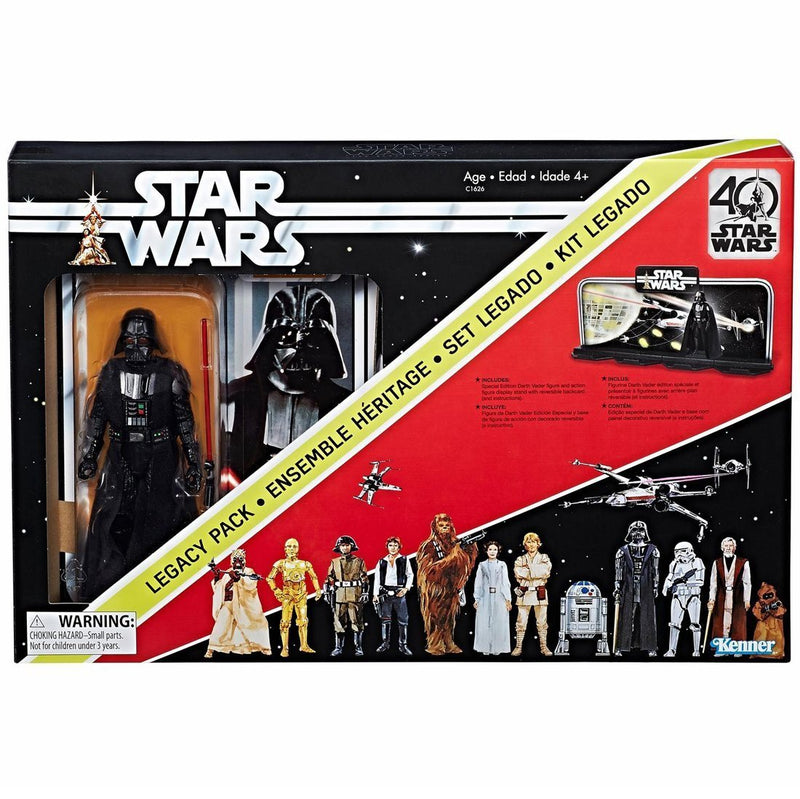 Star Wars The Black Series 40th Anniversary 6 Inch - Darth Vader Legacy Pack - Funky Toys