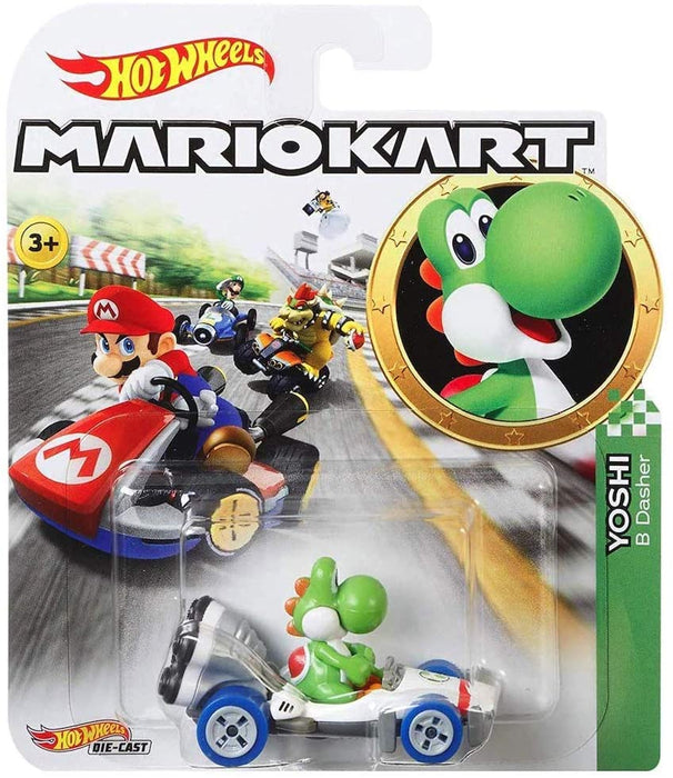 Hot Wheels Die-Cast 1/64 Mario Kart - Yoshi B Dasher