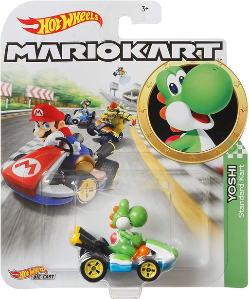 Hot Wheels Die-Cast 1/64 Mario Kart - Yoshi Standard Kart