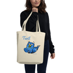 "TWIT Tote Bag - ""2 Birds 1 Stoned"" - Eco Tote Bag"