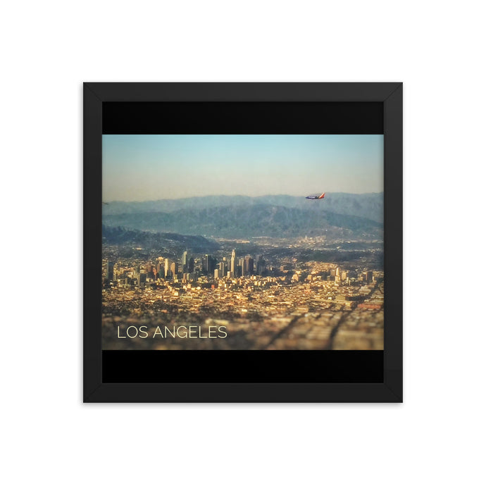 Fly in to Los Angels LAX - T-Bone's Prints - Framed photo paper poster