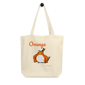 "Orange Tote Bag ""two Birds one Stoned"" - Eco Tote Bag"