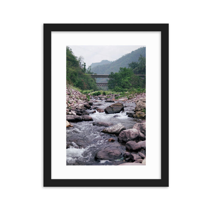 INDIA creek - T-Bone's Prints - Framed matte paper poster