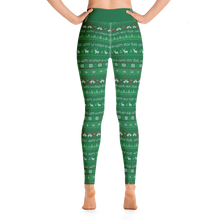 Load image into Gallery viewer, Happy Holidays UGLY SWEATER pattern- Yoga Leggings