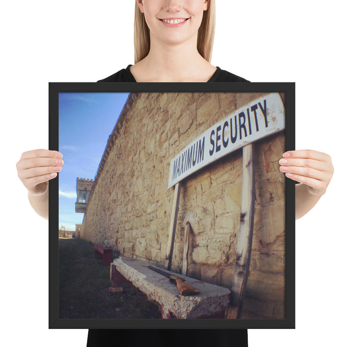 Maximum Secureity - T-Bone's Prints - Framed poster