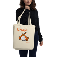 "Load image into Gallery viewer, Orange Tote Bag ""two Birds one Stoned"" - Eco Tote Bag"