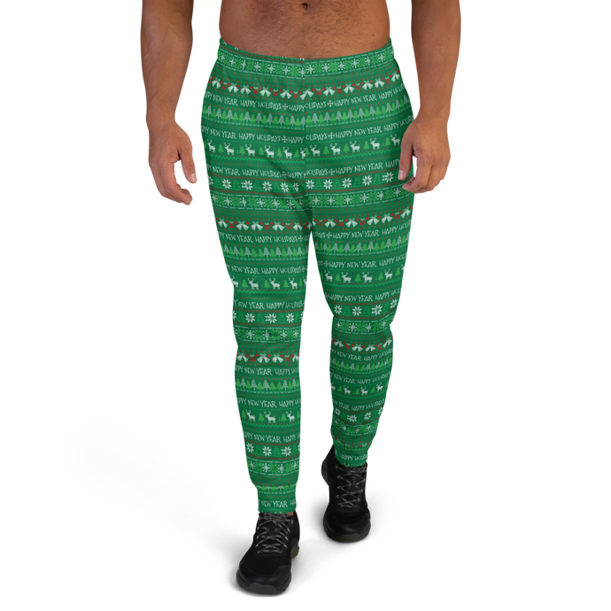 Happy Holidays, Happy New Year Ugly Sweater - Men's Joggers