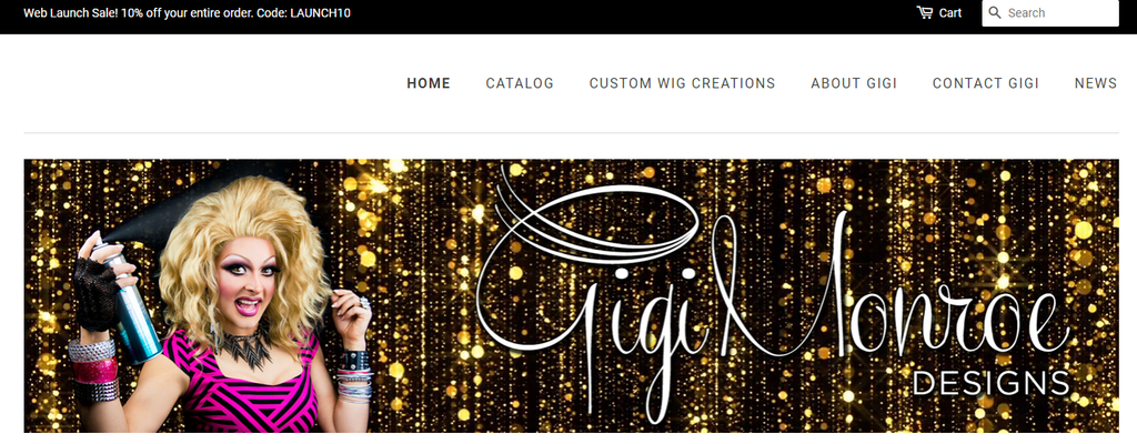 Welcome to the new Wig Shop for Gigi Monroe Designs!