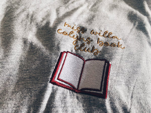 miss willa colyns book club embroidered tee