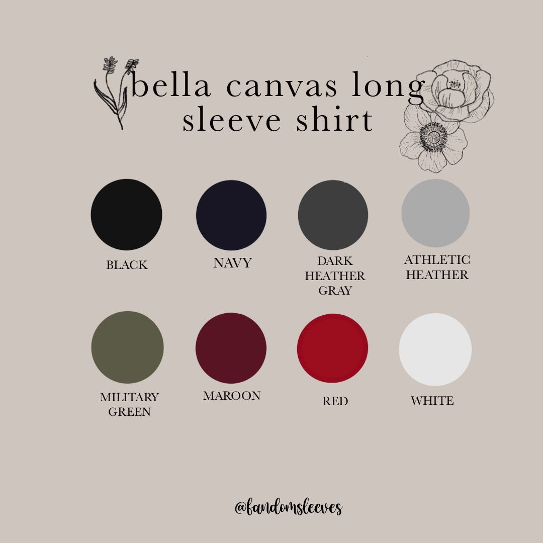 bella canvas long sleeve shirt