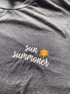 sun summoner embroidered tee
