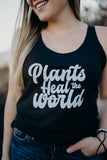 Plants Heal The World - Women's Racerback Tank