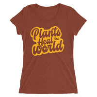 Plants Heal The World Garden Potter Tee - Women's Tri-Blend Tee