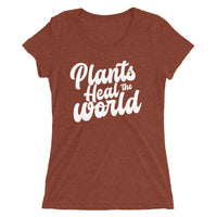 Plants Heal The World - Women's Tri-Blend Tee
