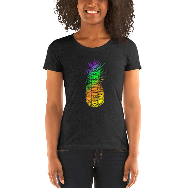 Pineapple Word Cloud - Women's Tri-Blend Tee