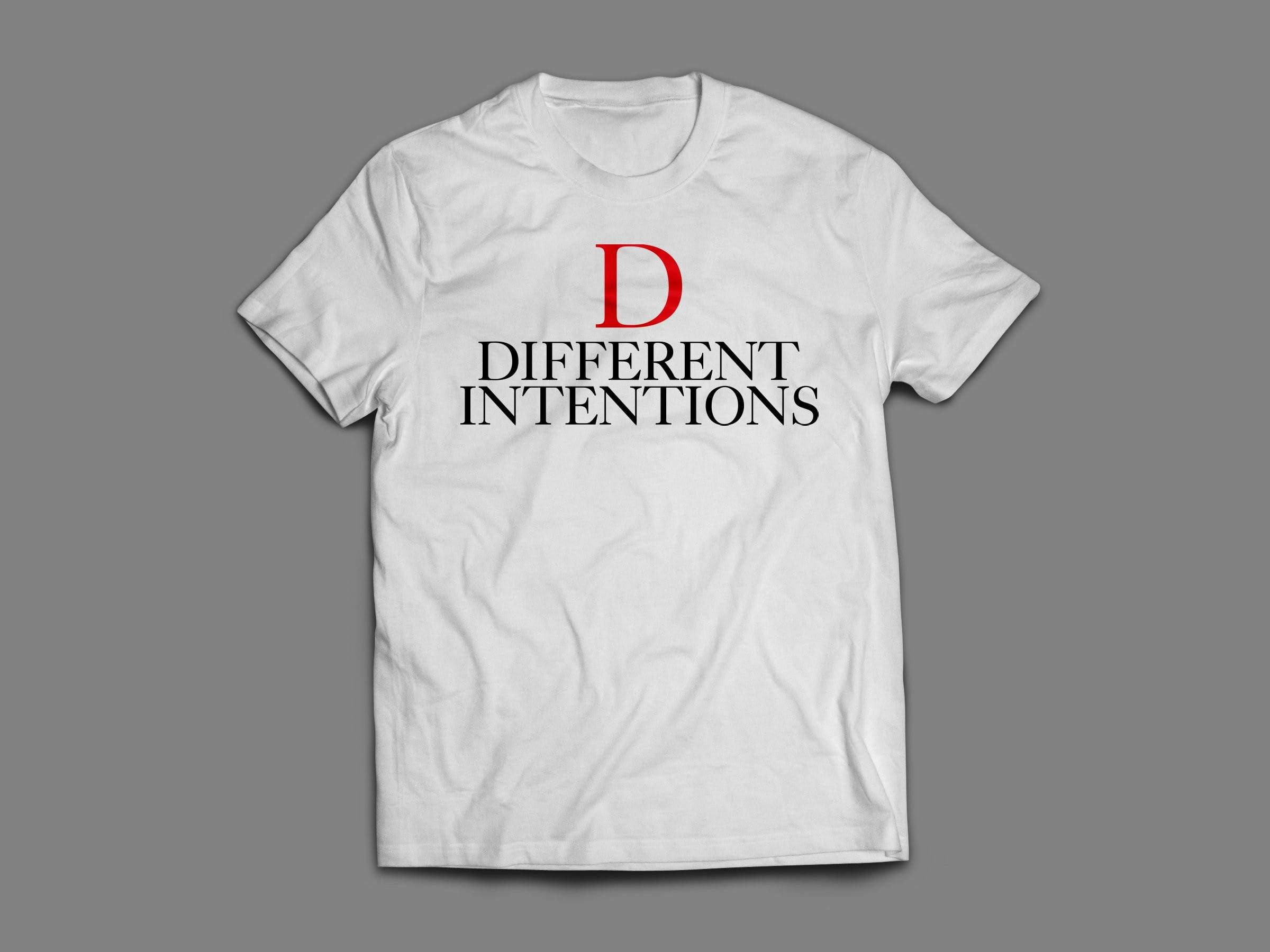 WHITE DTI RED D Short Sleeve Shirt - Different Intentions